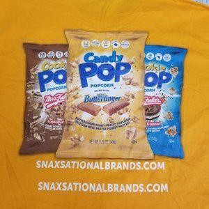Butterfinger Popcorn T Shirt Candy Snack Junk Food